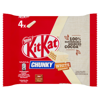 KITKAT CHUNKY Witte chocolade 4-pack | Nestlé Chocolade